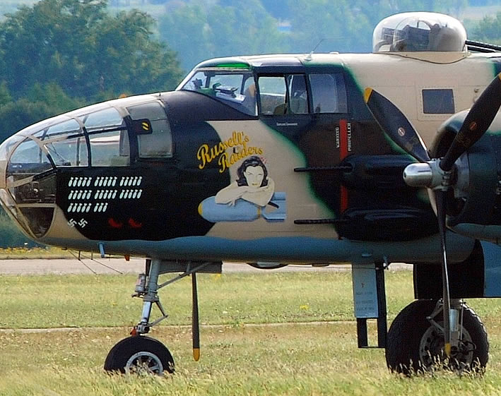 "B-25 Mitchell ""Russell's Raiders"", Registration F-AZZU, at Roanne, France"